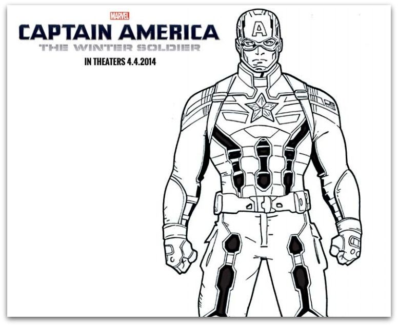 captain america coloring pages 19 pictures colorinenet 20749 - Captain America Pictures To Color