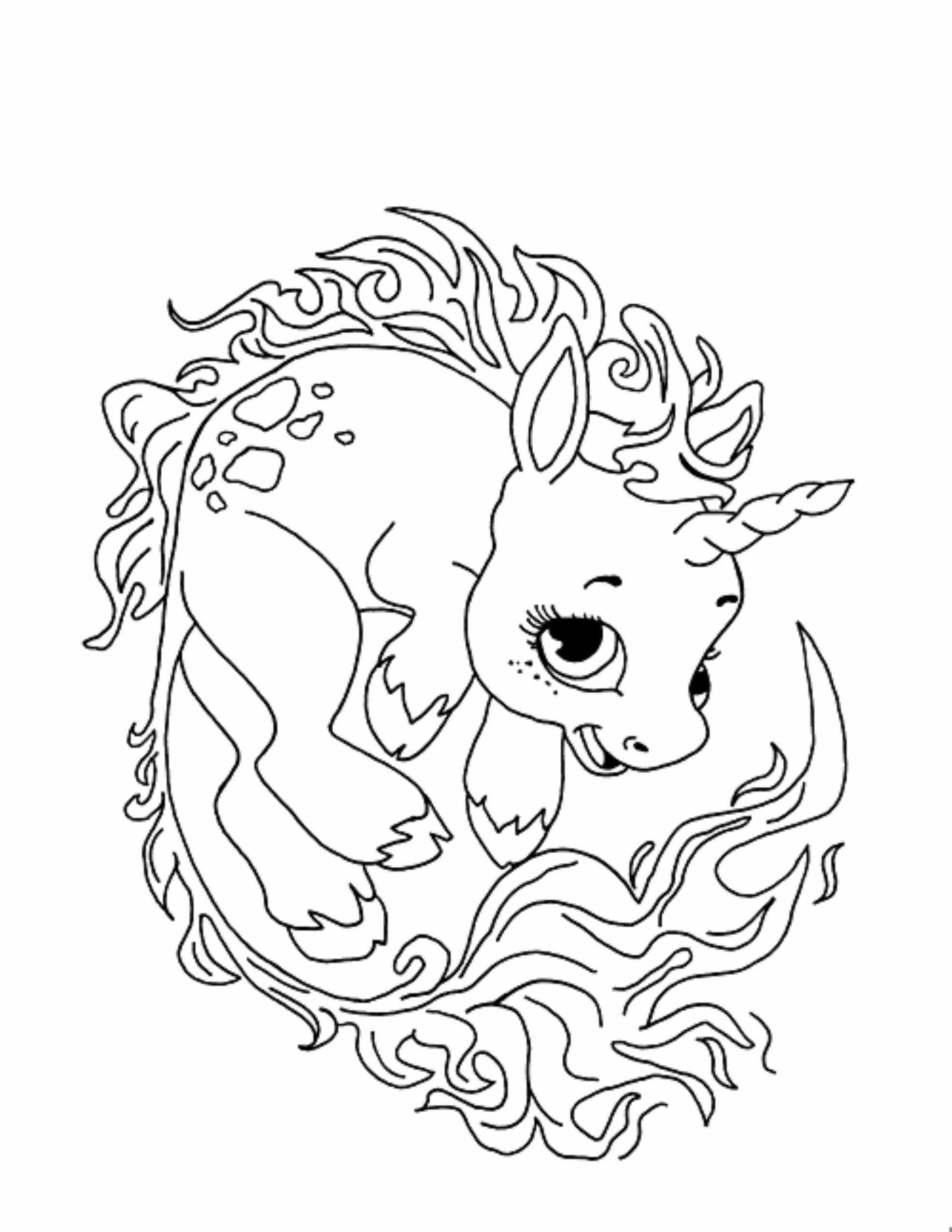 6 pics of cute unicorn coloring pages cute baby unicorn coloring