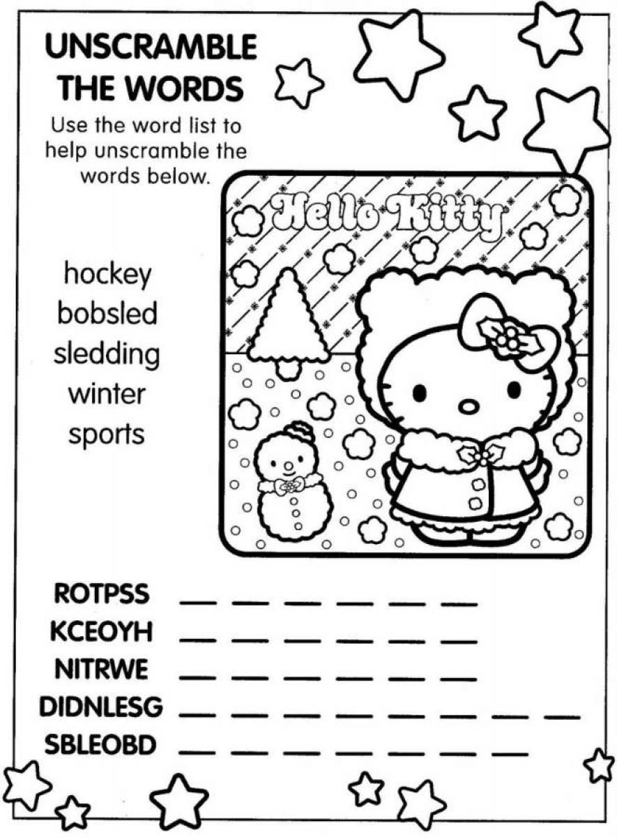 Printable Coloring Pages And Puzzles - Coloring Home