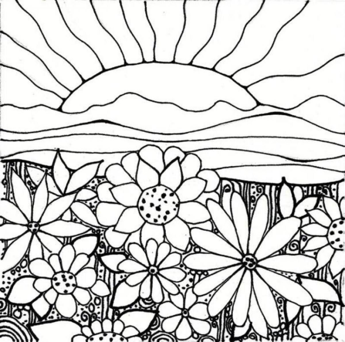 - Coloring Page Garden - Coloring Home