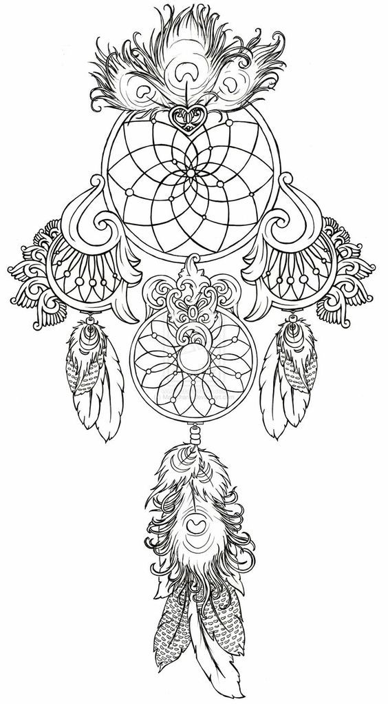 Dream Catcher Coloring Pages - Coloring Home