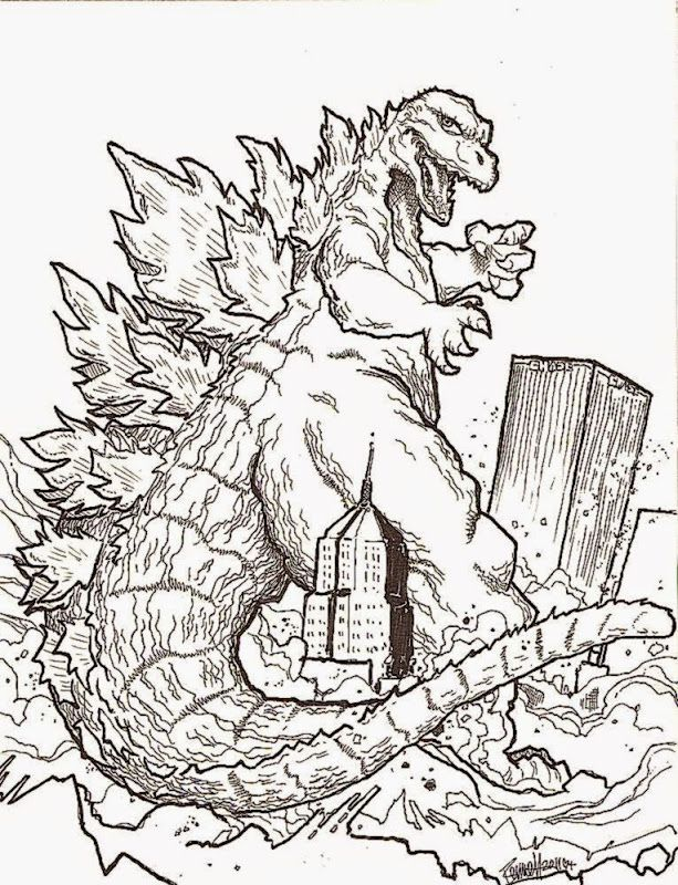 free godzilla 2014 coloring pages - photo#7