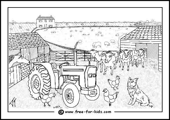 free farm equipment coloring pages - photo#17