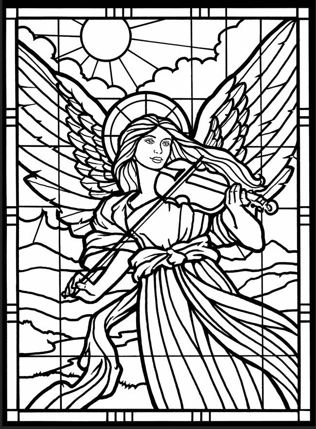 detailed stained glass coloring pages - photo#7