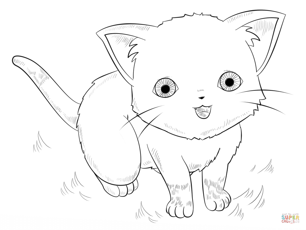 Anime Animals Coloring Pages Free Coloring Pages - Coloring Home