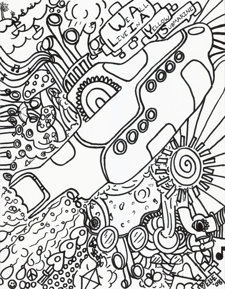 Hippie - Coloring Pages for Kids and for Adults