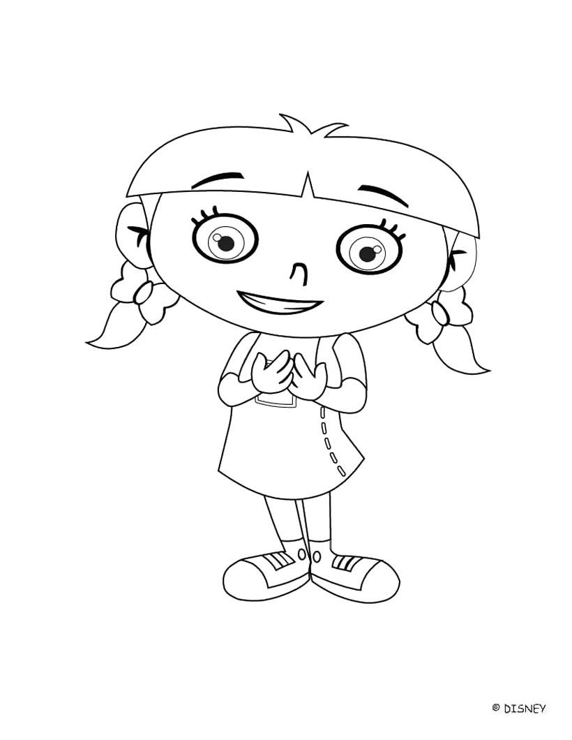 Little einsteins coloring pages free - Little Einsteins Coloring Pages Cute Annie Little Einsteins