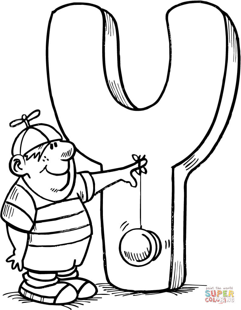 Letter Y Is For Yo Coloring Page
