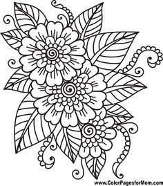 Flower Printable - Coloring Pages for Kids and for Adults