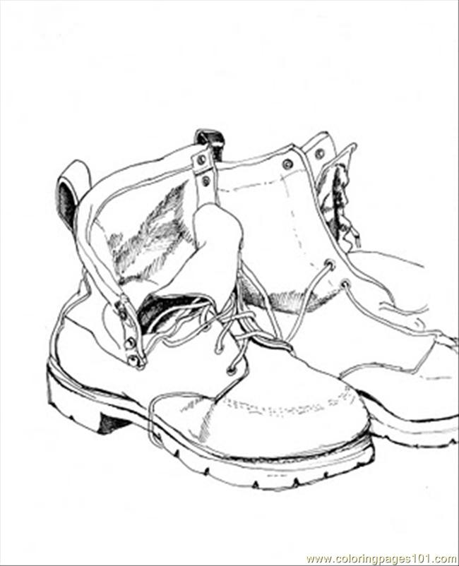 Free Printable Shoes Coloring Pages Inspiring - Coloring pages