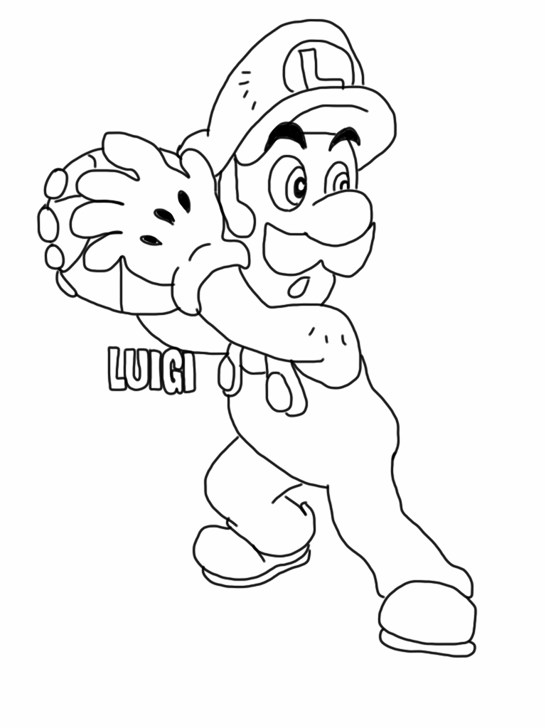Luigi coloring pages  Free Coloring Pages