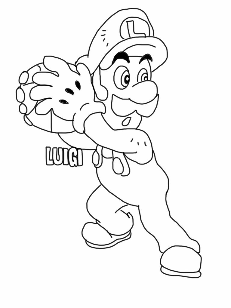 Mario Coloring Pages Luigi Coloring