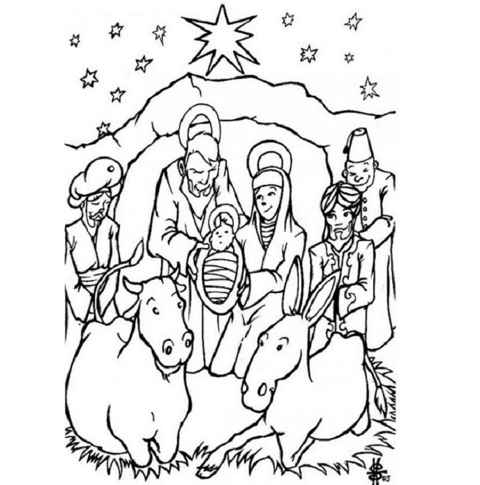 6 Pics Of Jesus Christmas Coloring Pages To Print - Religious - Coloring  Home