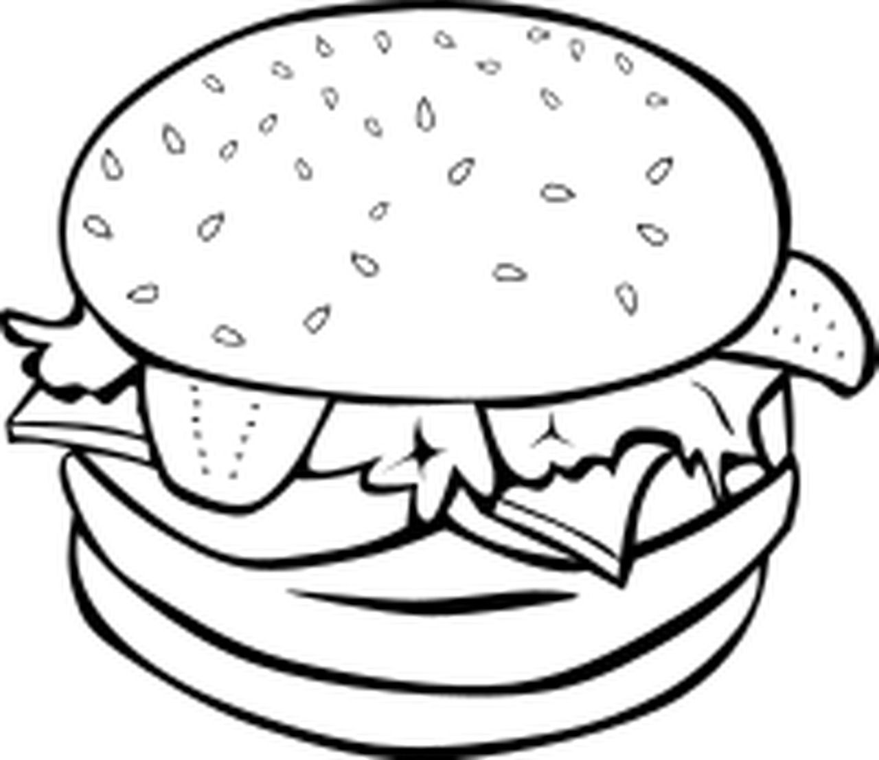 Cheeseburger Coloring Page D Oloring Pages For All Ages Coloring