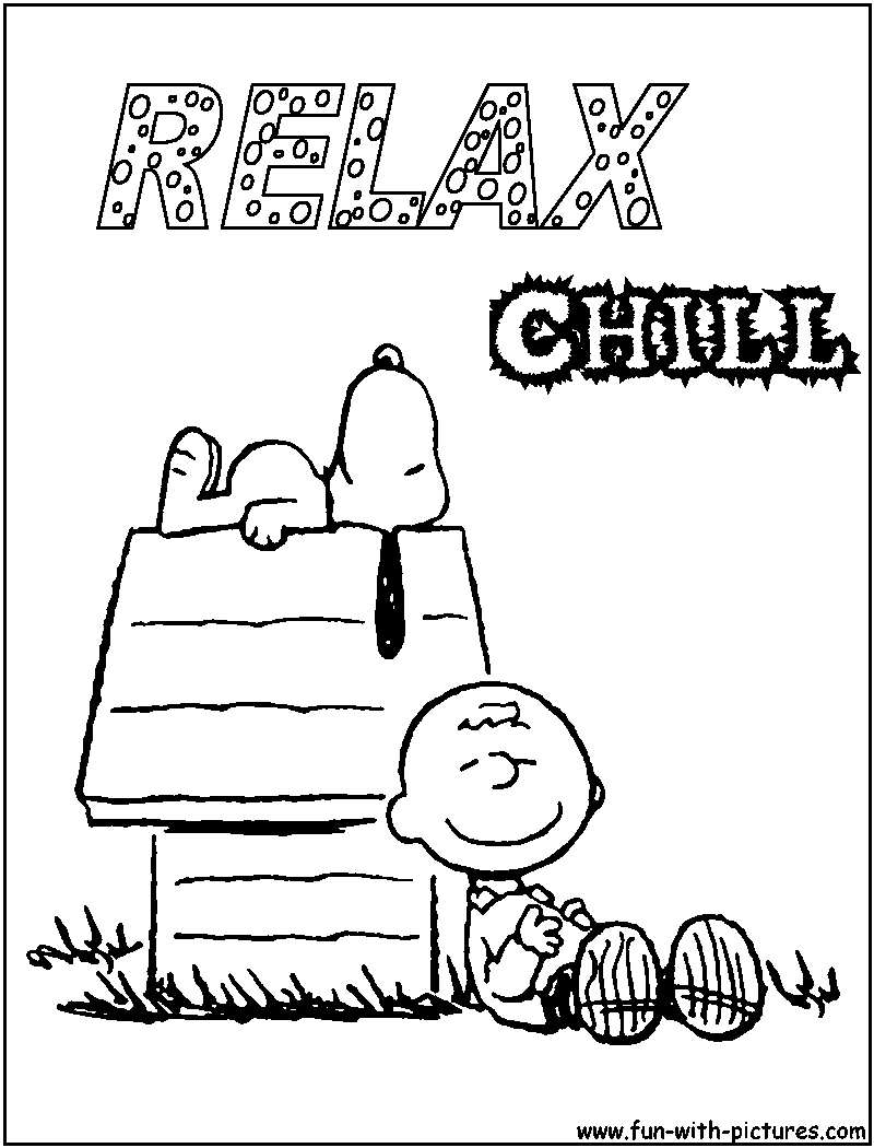 Charlie Brown And Snoopy Peanuts Coloring Page - Coloring Home