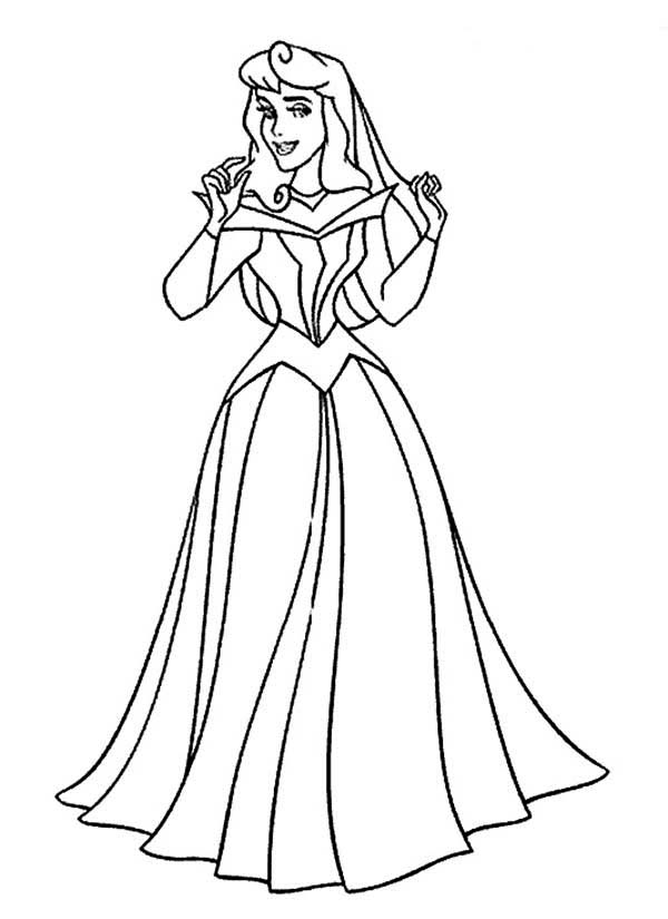 Beautiful Princess Aurora in Sleeping Beauty Coloring Page | Color ...