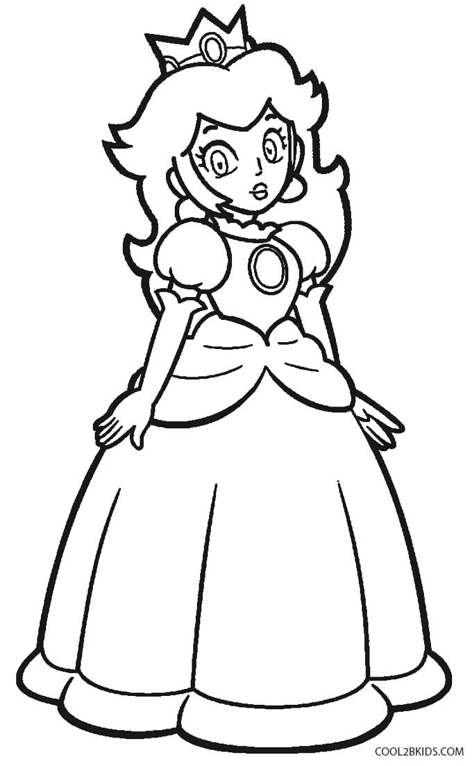 princess peach colouring pages to print coloring pages for kids