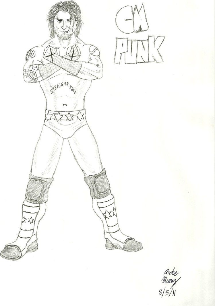 Wwe Coloring Pages Cm Punk Coloring Home Cm Coloring Pages