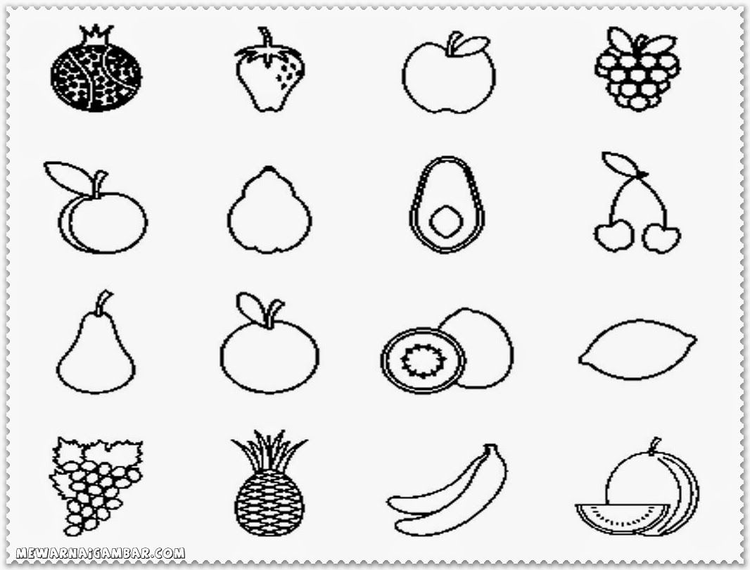 Fruits And Vegetable Coloring Pages