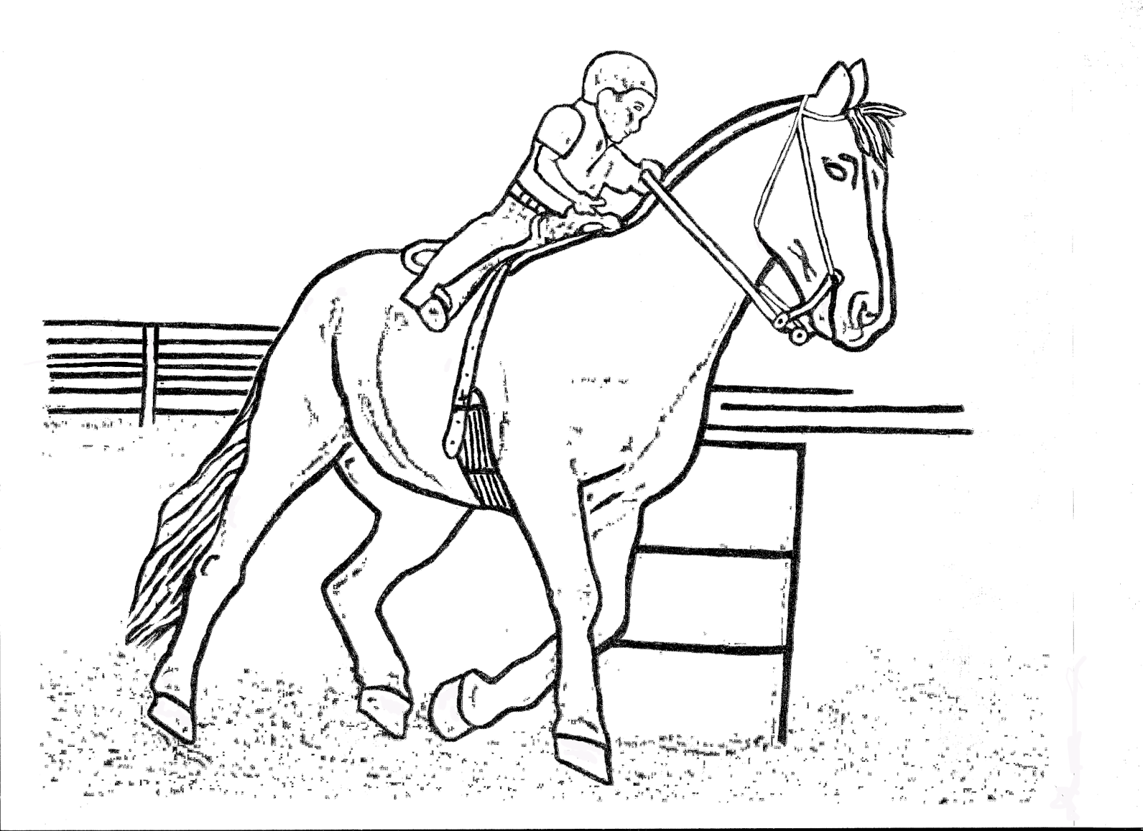 girl and horse jumping coloring pages coloring home