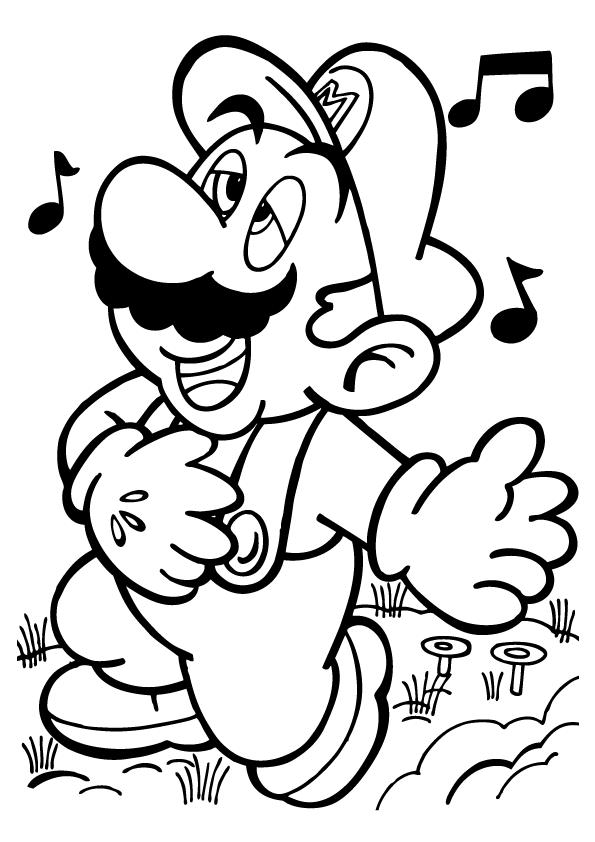 Mario Bros Coloring Page - Coloring Home