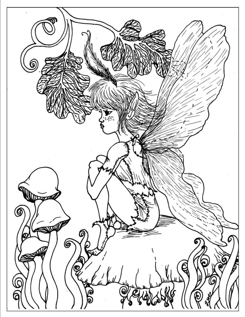 fantasy coloring pages online - photo#11