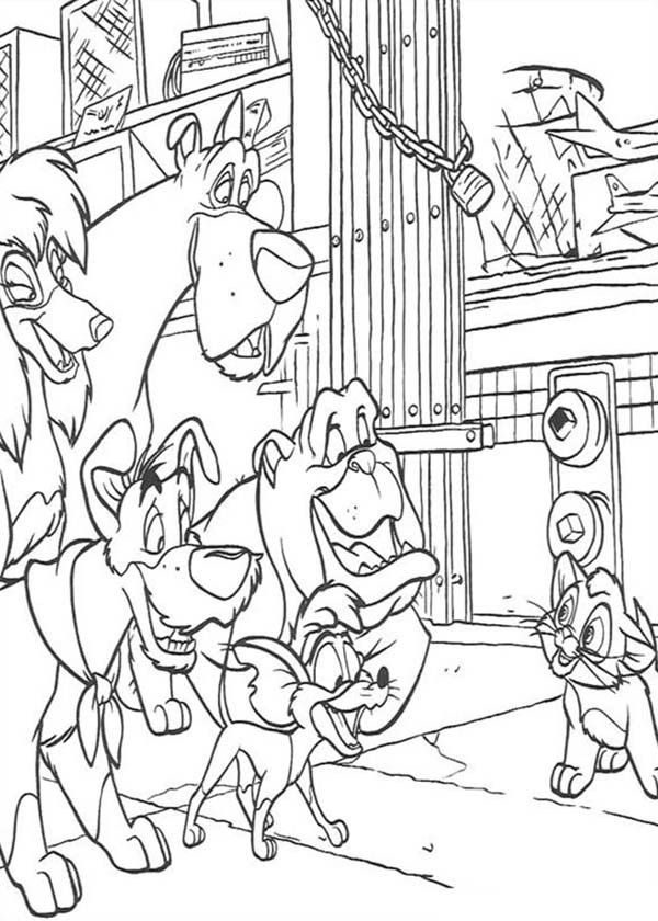 Oliver And Co Coloring Pages - Coloring Home