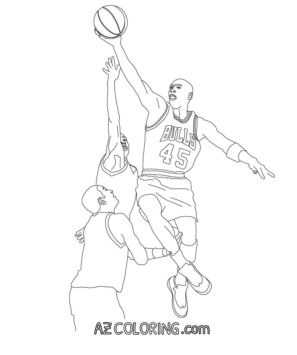 Coloring Page: Michael Jordan Coloring Pages