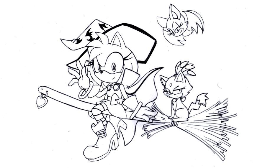 Blaze The Cat Coloring Pages Page 1