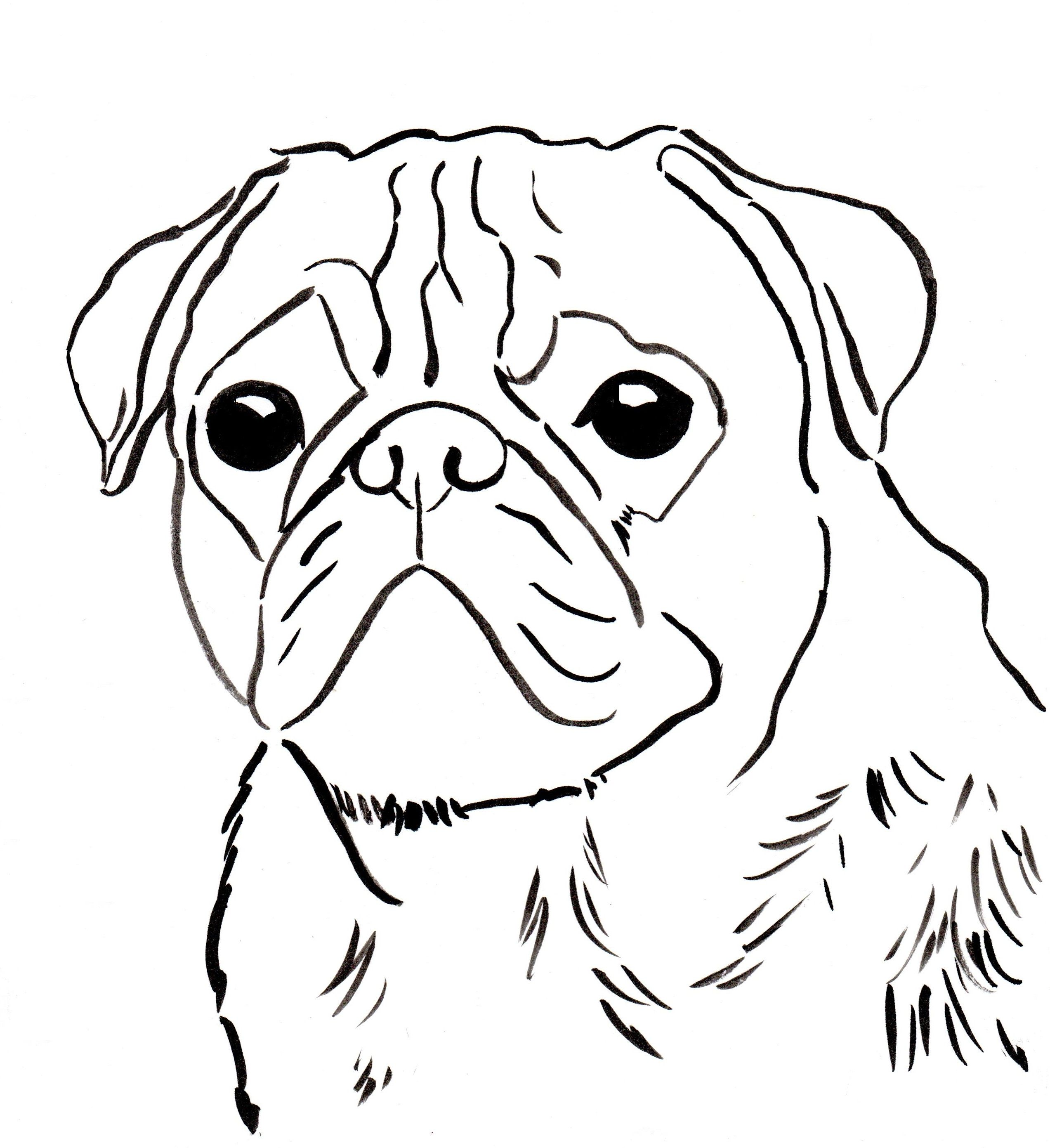 pugs coloring pages to print - photo#2