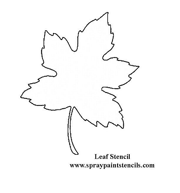 leaf-stencil.gif (612×656) | tutoriales 2 | Pinterest | Leaf ...