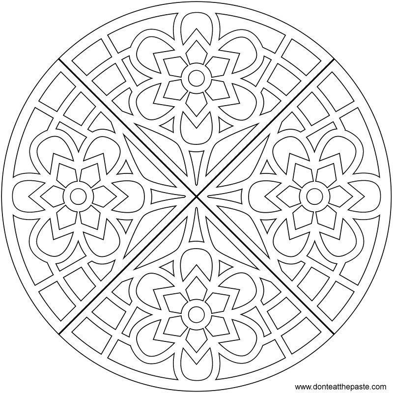 optical illusion printable coloring pages - photo#22