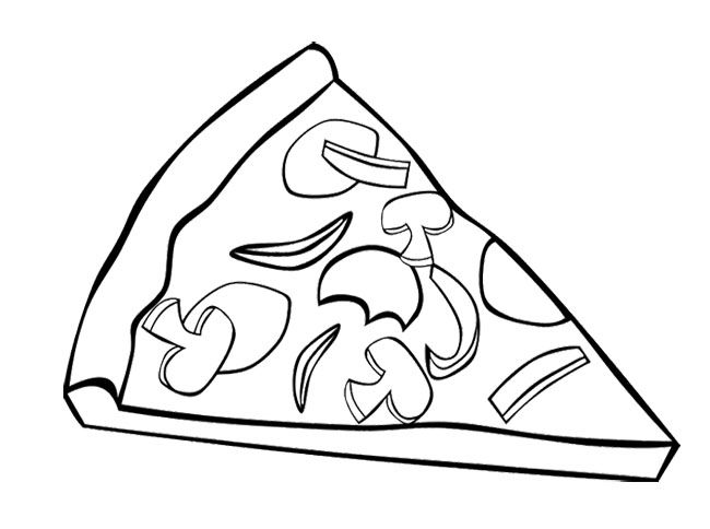 Junk Food Pizza Coloring Page For Kids | Action Man Coloring Page ...