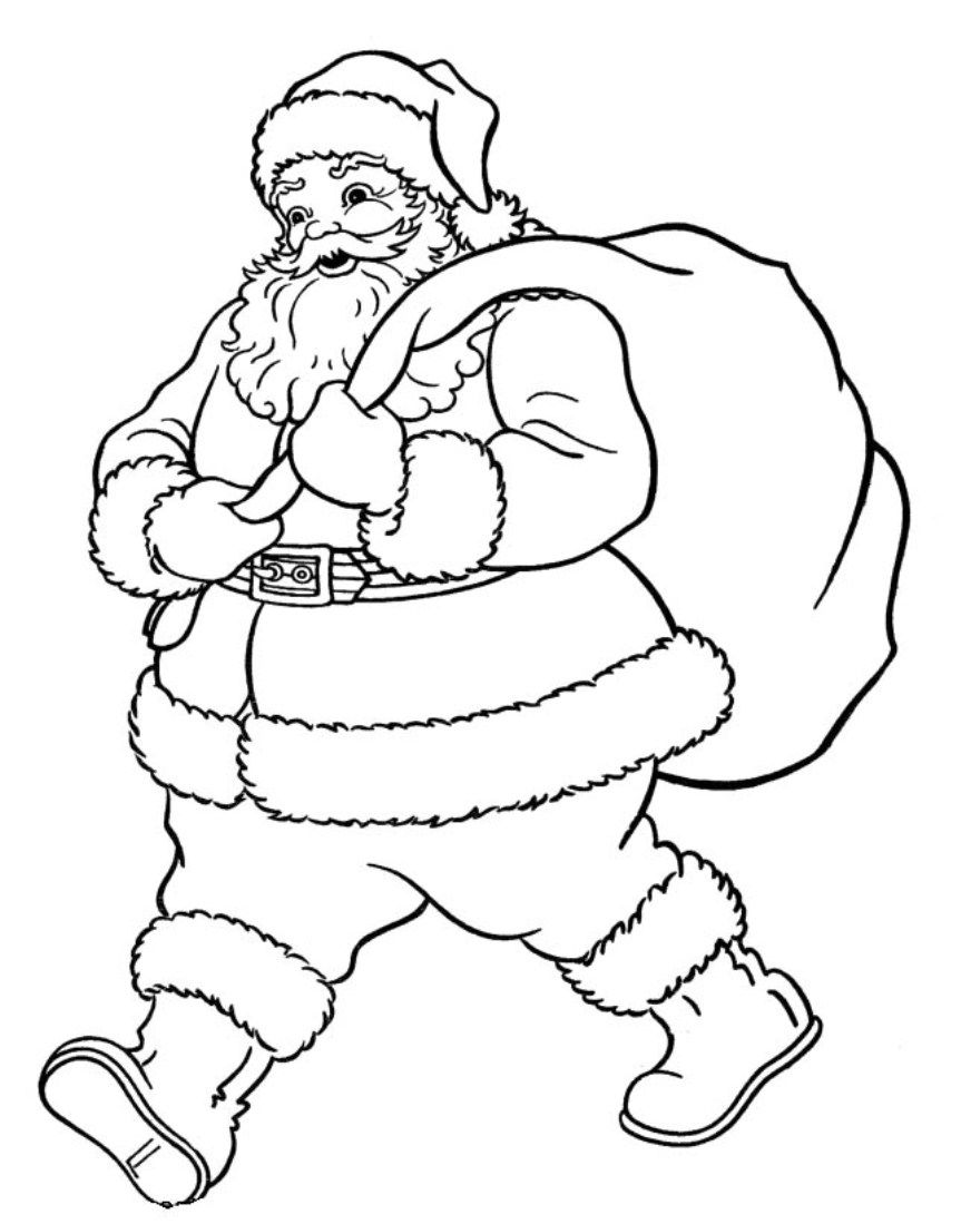 santa christmas coloring pages free printable christmas coloring