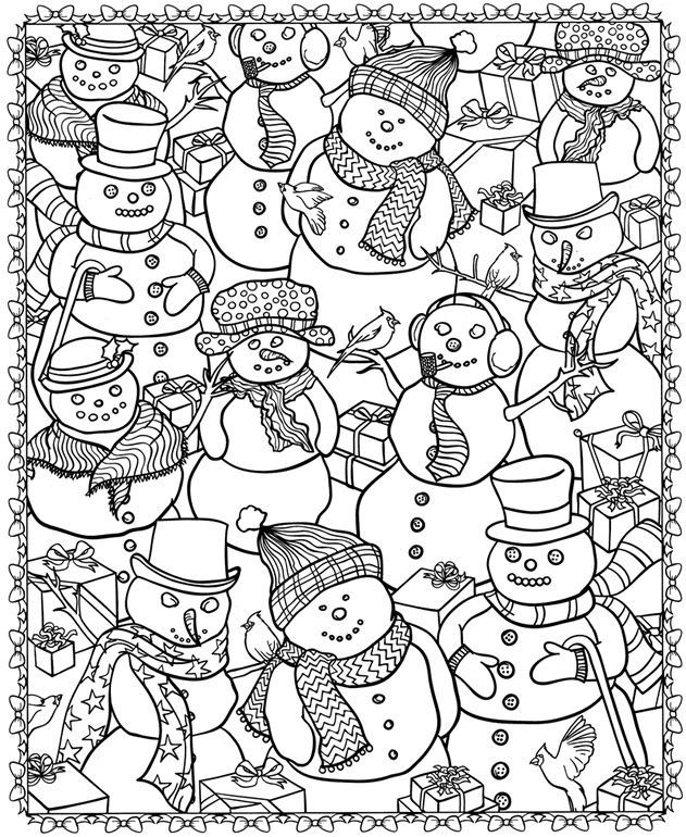 8 Christmas Coloring Pages For Adults - Coloring Home