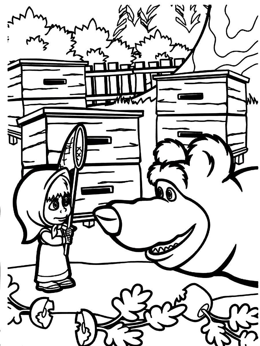- Mascha And Bear Coloring Pages - Coloring Home