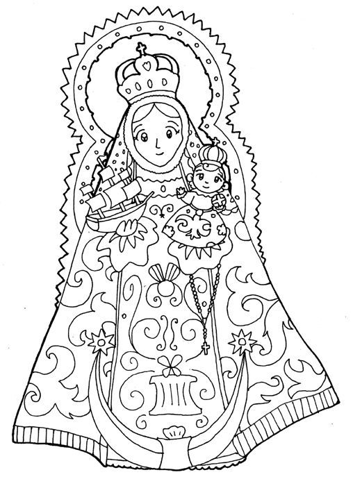 Virgen De Guadalupe Coloring Pages - Coloring Home