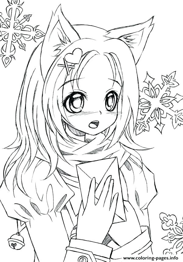 Kawaii wolf coloring pages Coloring page ~ wolf coloring book new pages  jumbo books for | Mata.baebaebox.com