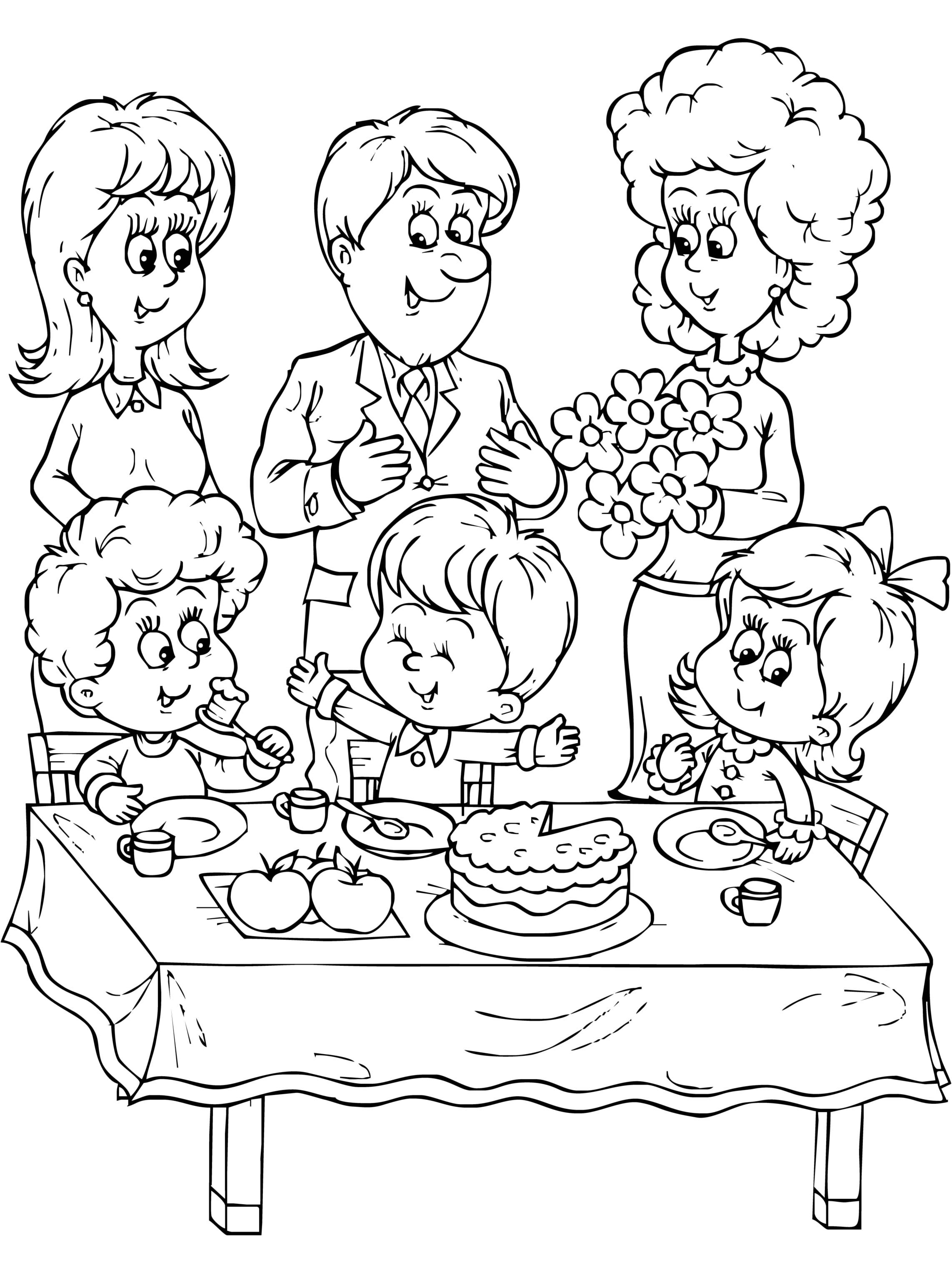 Family photo coloring pages ~ Coloring Pages Of Family - Coloring Home