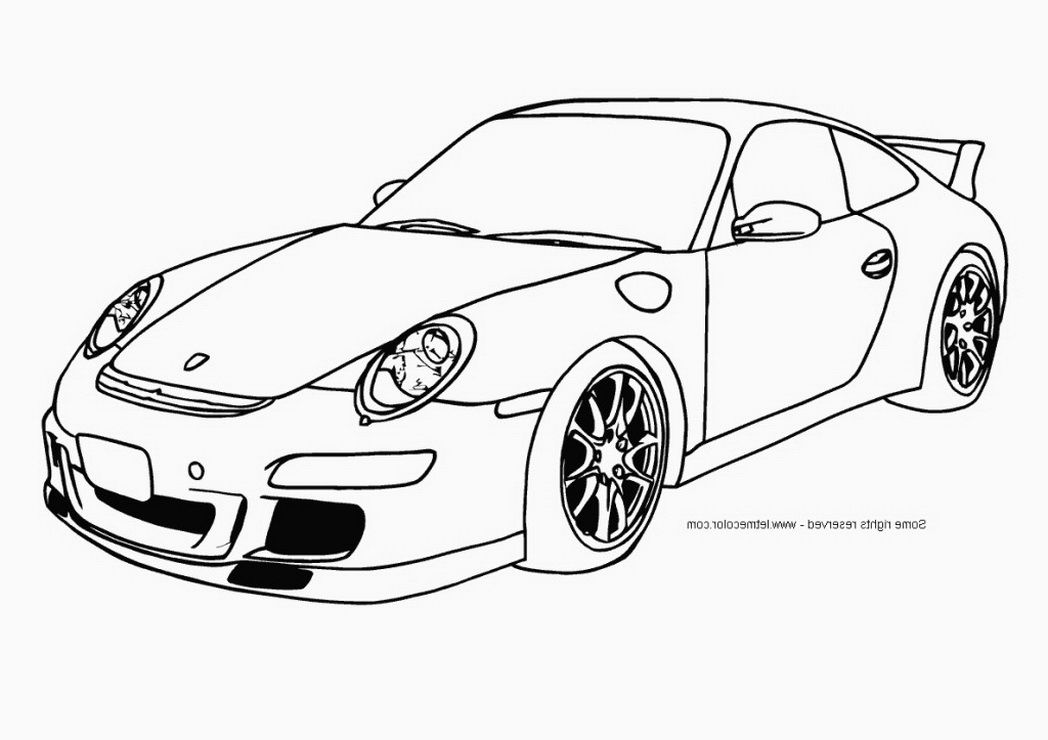 Coloring Pages Porsche Coloring Home