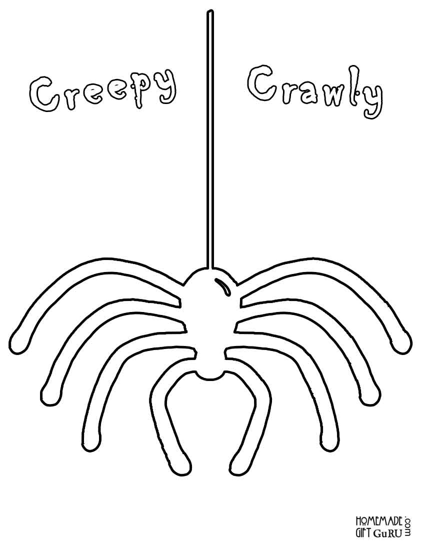 Scary Spider Coloring Pages - Coloring Home