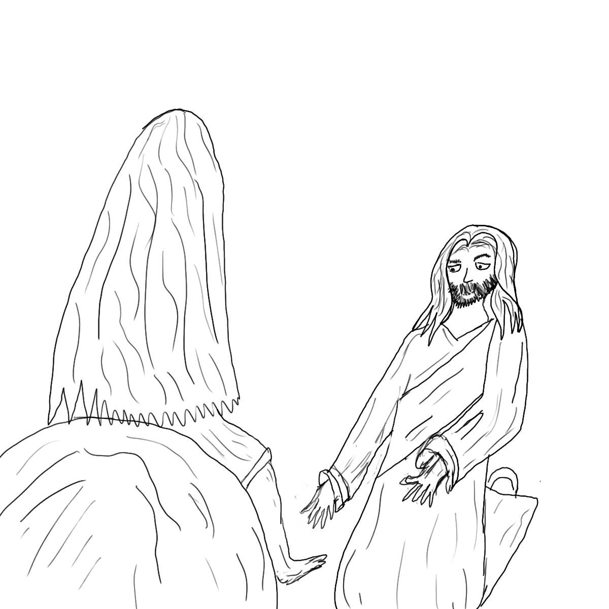 Jesus And The Storm Coloring Pages - Coloring Home