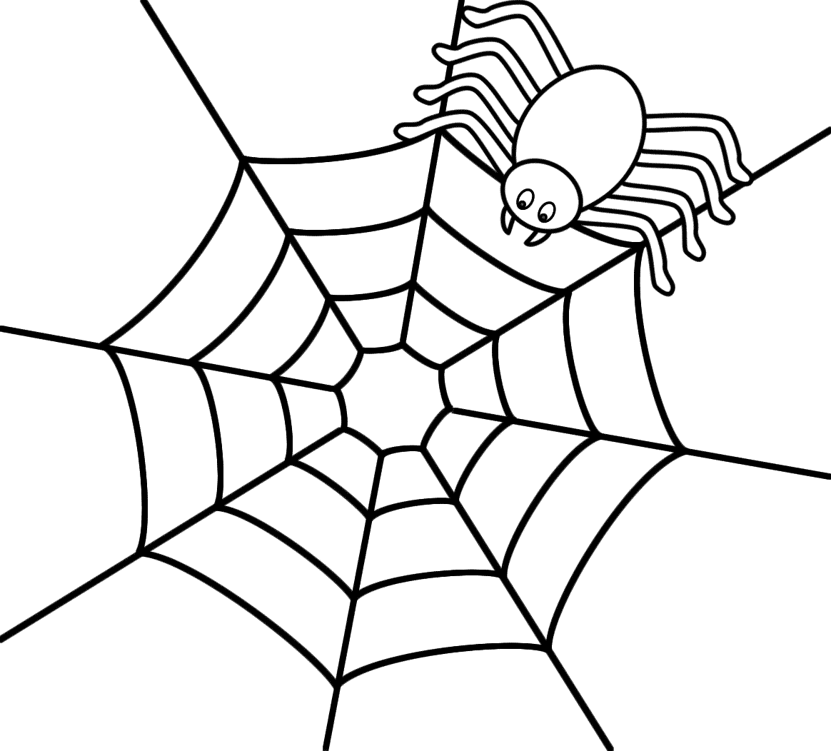 Coloring Page Of A Spider - Coloring Home