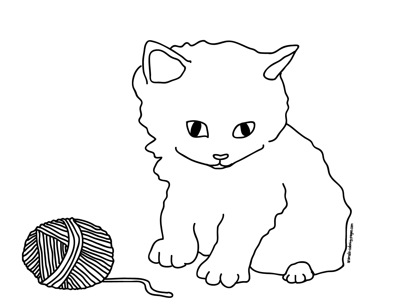 Cute Cat Coloring Pages To Print - Coloring Home