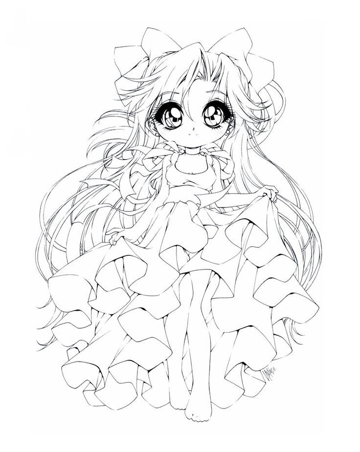 anime chibi princess coloring pages coloring pages for all ages - Coloring Pages Anime Princesses