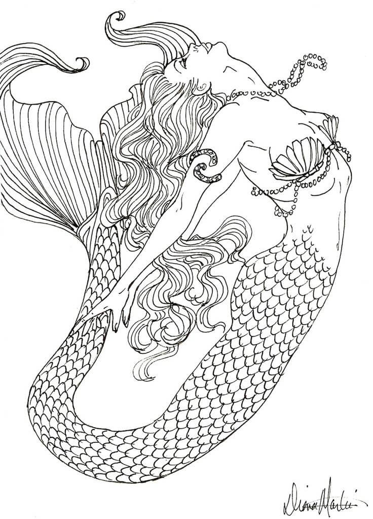 Detailed Coloring Pages For Adults Free Fairy Tale