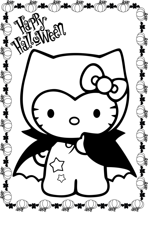 Hello kitty halloween coloring page az coloring pages - Hello kitty halloween ...