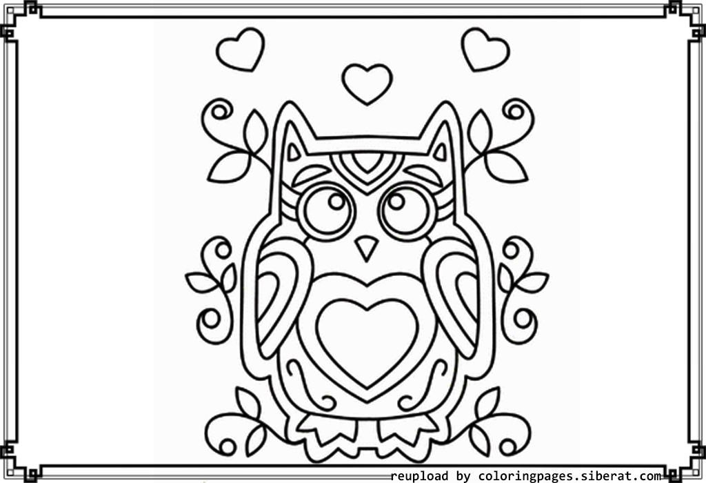 cute owl coloring pages to print coloring home