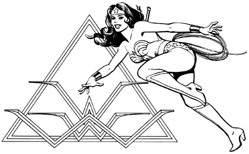 Batman And Wonder Woman Coloring Pages