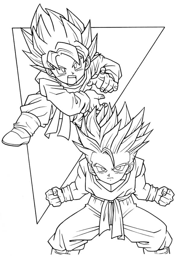 goten coloring pages - photo#14